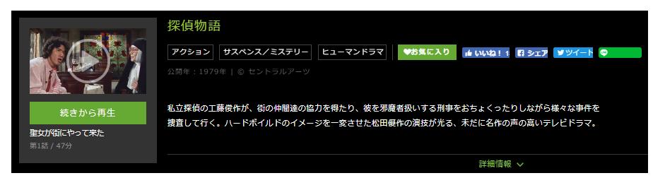 「探偵物語」のドラマ動画(1話~27話<最終回>)