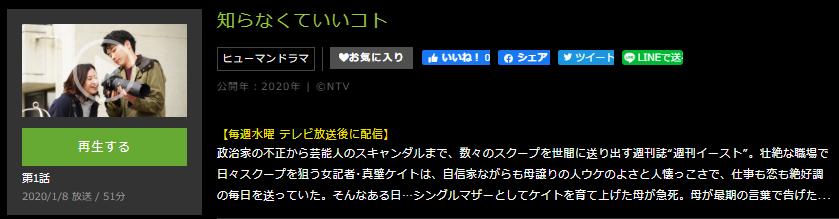 「知らなくていいコト」のドラマ動画(1話~10話<最終回>)