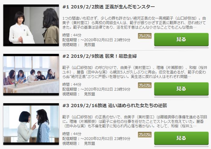 「絶対正義」のドラマ動画(1話~8話<最終回>)