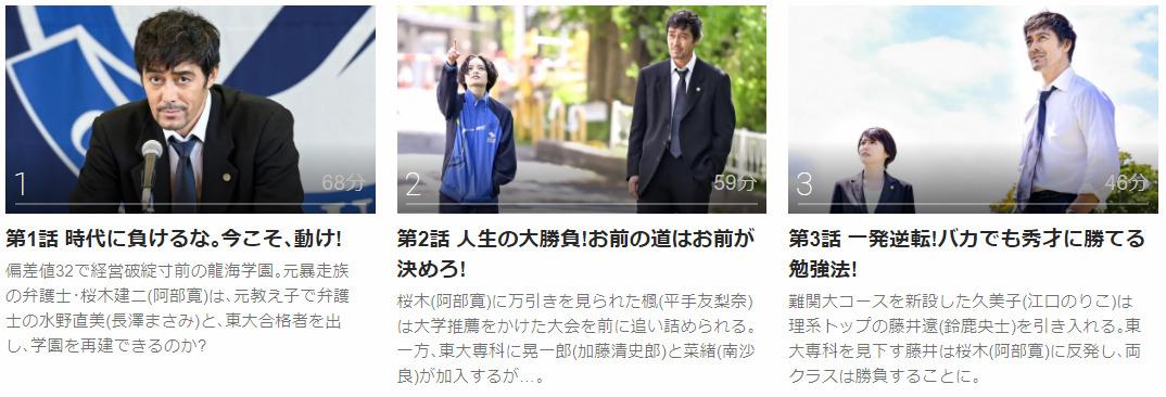 「ドラゴン桜2021」のドラマ動画(1話~)